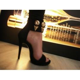 Sandalo nero donna AG337S