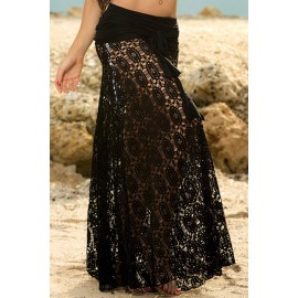 Gonna abitino mare..  Black Convertible Lace Beach Dress AG41102-2
