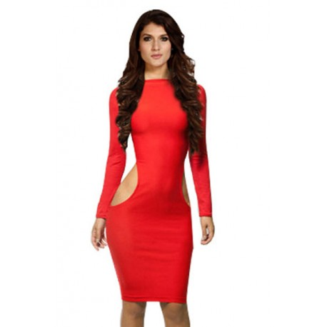 Red Midi Party Dress AG21034-3