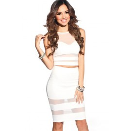 White Dress Two-piece AG21217-1