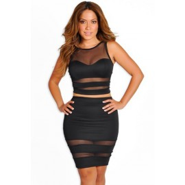 Black Dress Two-piece AG21217-2