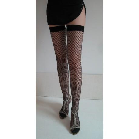 Autoreggenti..Fence Net Thigh Hi Stockings AG7905-3