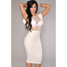 White Evening Dress AG6473-1