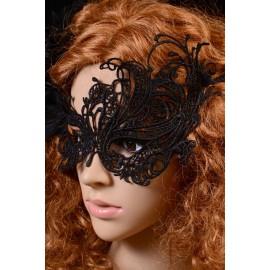 Maschera Nera ricamata a mano AG0353