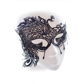 Maschera Nera ricamata a mano AG0385-2
