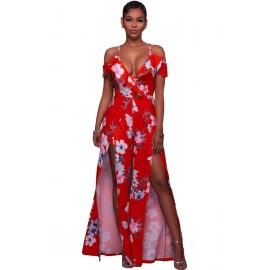 Sexy Tuta Rossa con Spacchi AG64287-3