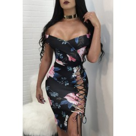 Sexy Abito Floreale AG61644-2