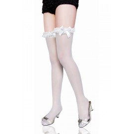 Autoreggenti..Lace up Thigh High with Satin Bow AG7993