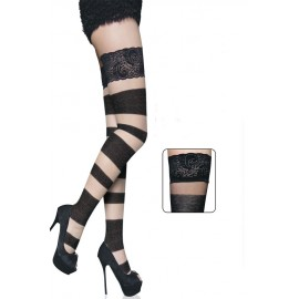 Autoreggenti..Floral Bandage Thigh High AG79275