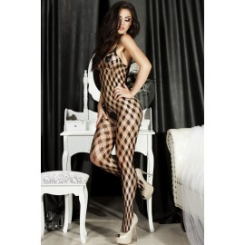 Lattice Hollow out Female Bodystocking AG79403