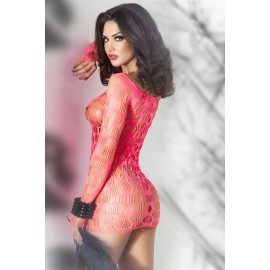 Neon Pink Seamless Mini Dress Chemise AG21540